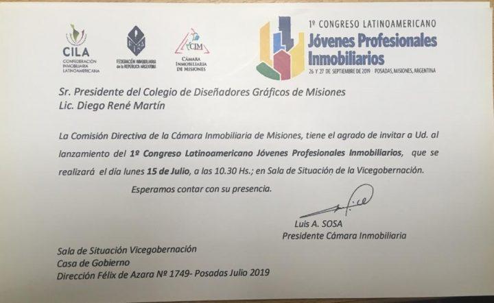 ESTUVIMOS ACOMPAÑANDO EL LANZAMIENTO DEL CONGRESO LATINOAMERICANO DE JÓVENES INMOBILIARIOS.